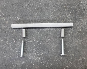 "Modular Series  Cabinet door/drawer pull - 3/8"" Contemporary Steel - 4"" - 16"""