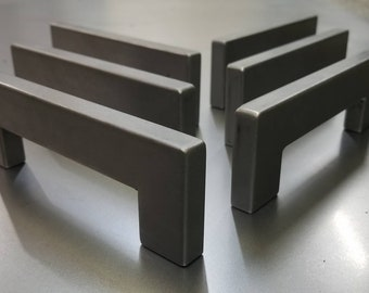 """Industrial Raw Steel Door Handle or Drawer Pull or Cabinet Handle - 6"""" to 30"""" - Cold-rolled rectangle Steel Construction"""