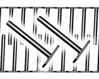 "Floating Shelf Bracket BULK 20 Pack Standard Duty (10 Pairs / 20 pieces) - 1/2"" post"