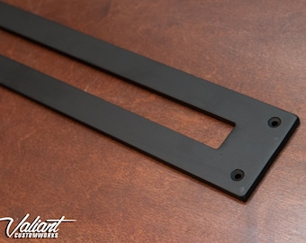 """Recessed Sliding Door Pull 3"""" Wide - 3/16"""" thick - Open back"""
