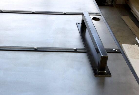 Large Steel Barn Door Handle 1 14 Thick Sliding Loft Etsy
