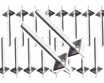 """BULK 20 PACK Floating Shelf Bracket (10 pairs, 20 pieces) - New high strength 1/2"""" version with backside post."""
