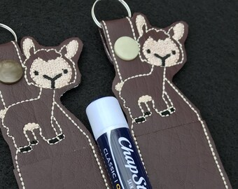 Llama Llama lip Balm holder, Lip Balm Key Chain, Chap stick Holder, Key Ring