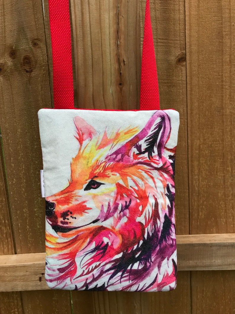 Southwestern bag Wolf crossover purse red crossover purse image 0