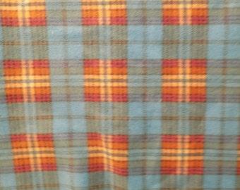 Dog Jammies Blue and Orange plaid fleece
