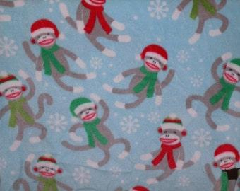 Dog Jammies Sock Snow Monkeys fleece