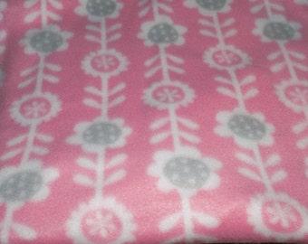 Dog Jammies Pink with White/Grey flowered fleece