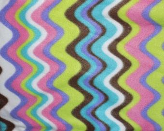 Dog Jammies multi colored wave pattern fleece