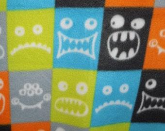 Dog Jammies Multi-colored Monster Plaid fleece