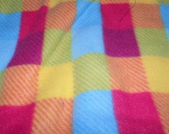 Dog Jammies Multi-colored large plaid fleece