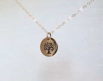 Tree of Life Necklace, Gold Tree of Life Necklace, Tree of Life Jewelry, Tree Jewelry, Tree Necklace
