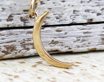 Crescent Moon Necklace, Gold Crescent Moon Necklace