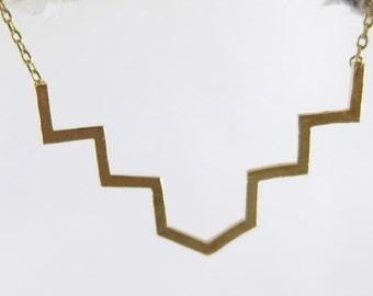 Gold Geometric Jewelry, Dainty, Simple Layering Necklace, Stairs Necklace, Boho Jewelry, Celebrity Jewelry