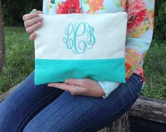 Monogram Cosmetic ~ Monogram Makeup bag~ Spring Cosmetic Bag ~ Graduation gift ~ Bridesmaid~ wedding~
