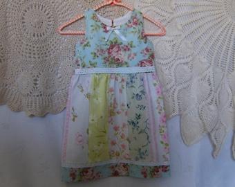 Girl's 5T Dress, Upcycled 5T Dress, Vintage 5T Dress, 5T Girl's Dress