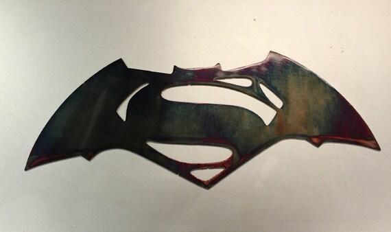 batman superman metal wall art decor kids bedroom man cave etsy