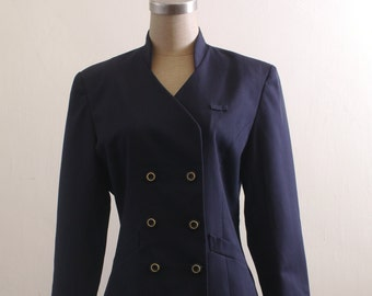 Vintage navy double breast blazer