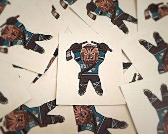 San Jose Sharks Chewbacca Sticker