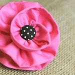 Dog Collar Flower Pink Satin Fabric Flower for Dog Collars - Choose Centerpiece - Pet Accessories - Flowers - Dog Accessory, Dogs