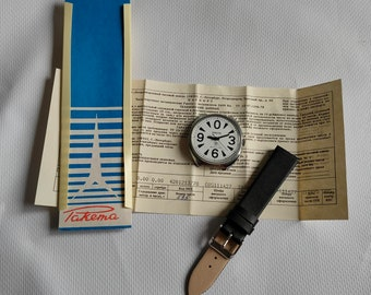 NEW OLD STOCK Raketa Big Zero, Soviet watch raketa, big watch, mechanical wrist watch, white watch, with documents and box