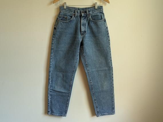 "Vintage High Waisted Denim Lee, 26"" waist, Made in"