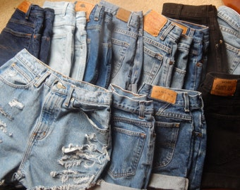 Denim High Waisted Shorts