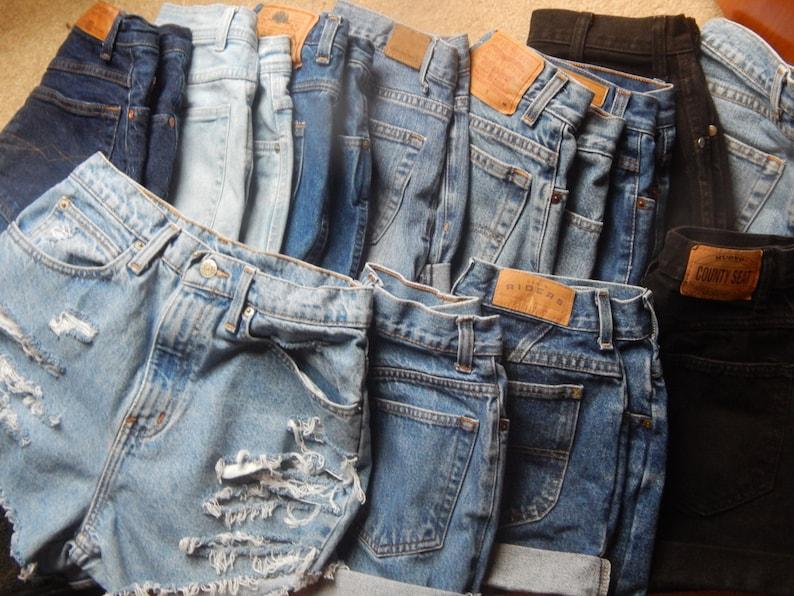 Denim High Waisted Shorts image 0