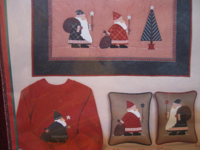 Applique jolly old elves santa star christmas pattern etsy