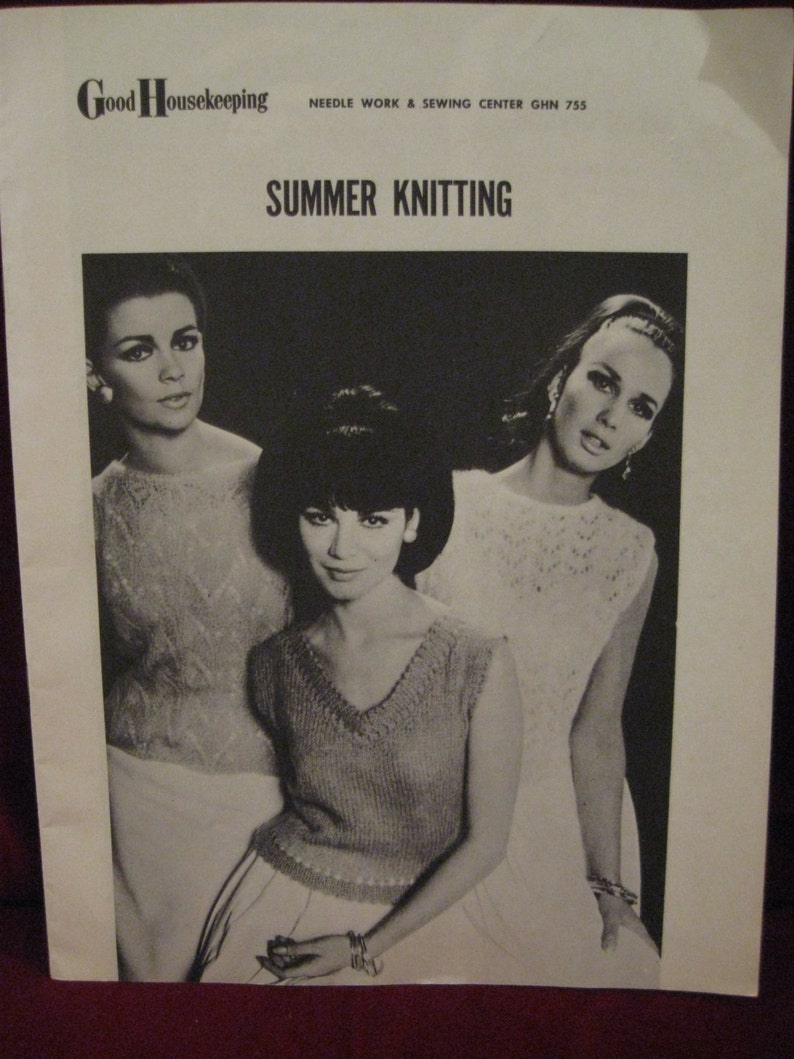 1d1f53ac69cd Vintage 1966 SUMMER KNITTING Pattern Instruction Book by Good