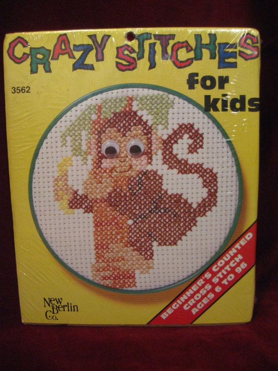 Nip Crazy Stitches For Kids Monkey 3562 Beginner Etsy