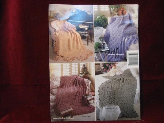 Antique Elegance Afghan Annie/'s Crochet Pattern//Instructions Leaflet
