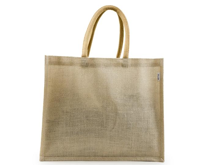 AMANI Large Jute Tote Bag