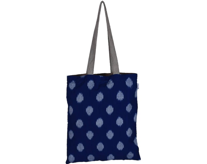 SANCHI Handloom Reversible Cotton Tote Bag