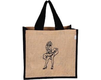 QESE Jute Tote Bag