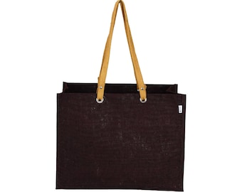 MEWOK Extra Large and Wide Jute Tote Bag