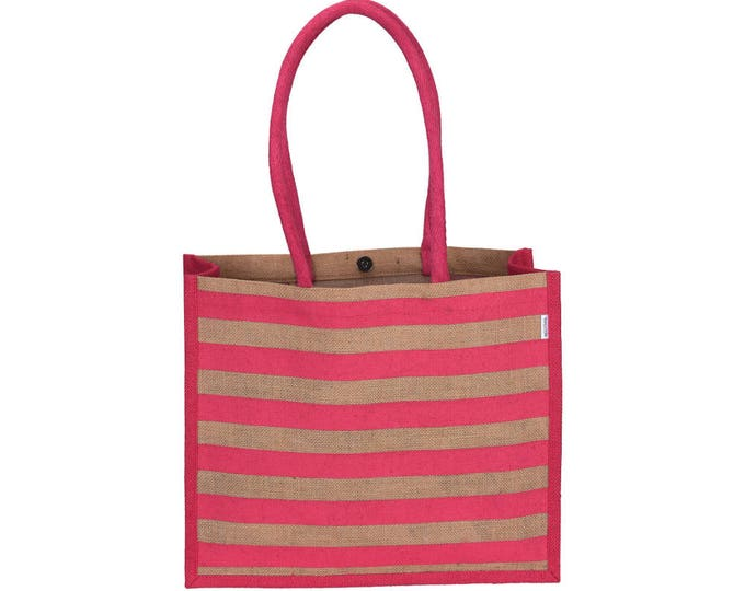 VASKA Large Jute Tote Bag