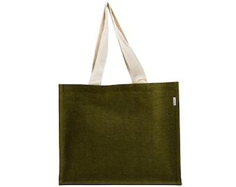 OLIVE Large Jute Tote Bag