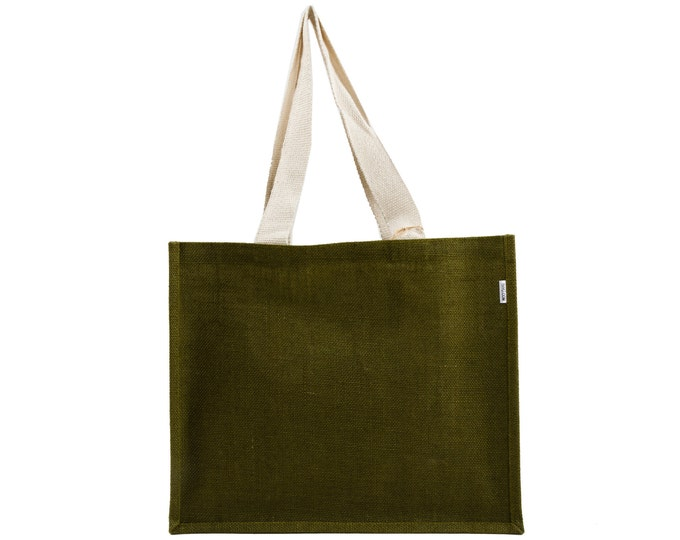OLIVE Large Jute Tote Bag