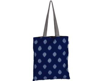 SANCHI Handloom Reversible Cotton Tote Bag