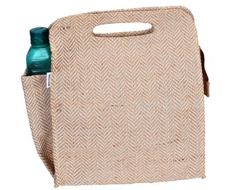 DILLY Jute Lunch Bag