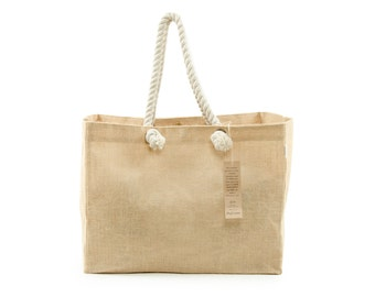 UDO Jute Beach Bag - Extra Wide