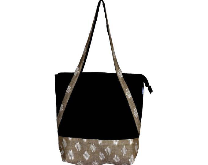 MALA Canvas and Ikkat Cotton Hand Bag