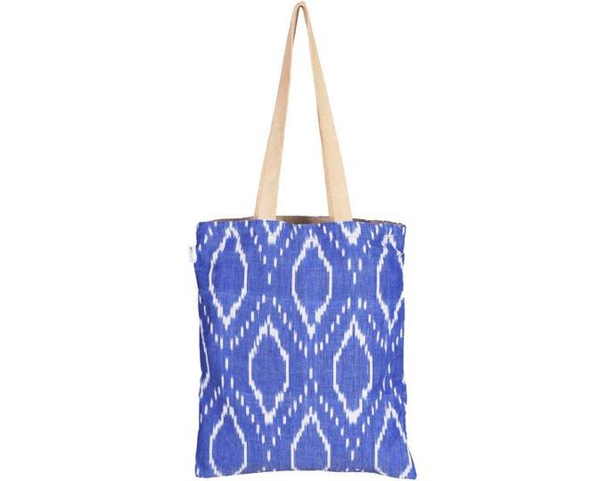 JOLA Handloom Reversible Cotton Tote Bag