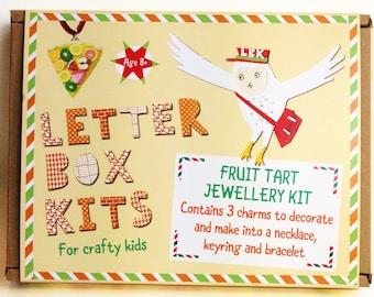 Fruit Tart Jewellery Making Kit - Kids Craft Kit - DIY Craft Kit