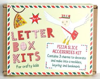 Pizza Jewellery Making Kit - Kids Necklace Kit - Children's DIY Craft