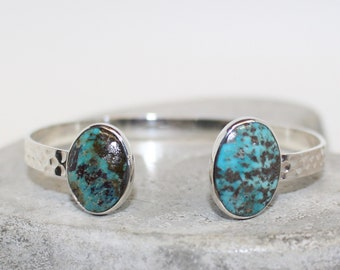 Sterling silver turquoise bracelet adjustable