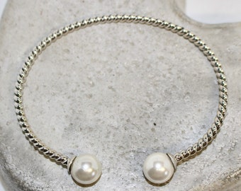 Pearl Sterling silver bracelet adjustable