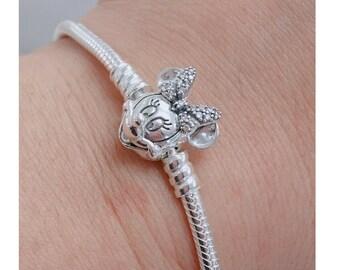 f2f378776 Pandora, Bracelet Charms, Bead / Shimmering Minnie Portrait Bracelet / New  / s925 Sterling Silver / Stamped / Sizes available 18cm,19cm,20cm
