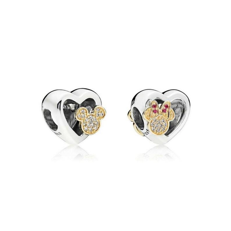 6fbf4a9b8 Pandora Disney Bracelet Charms / Mickey Minnie Mouse Love | Etsy