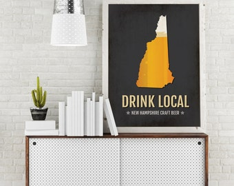 South Carolina Beer Print Map Drink Local Craft Beer Sign